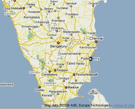 Call It Puducherry Or Pondicherry Its Still Quite French A Wide - Pondicherry map