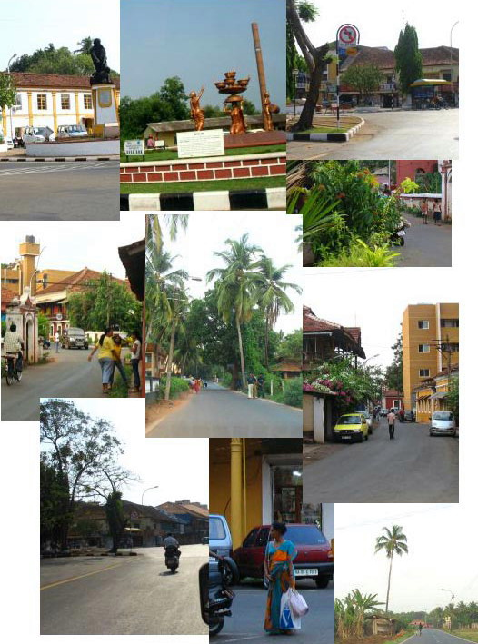 goa streets collage