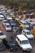 Traffic Delhi BRT