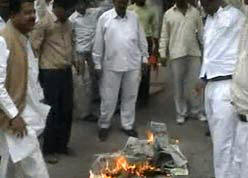 loksatta burning newspaper