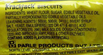 Krackjack ingredients