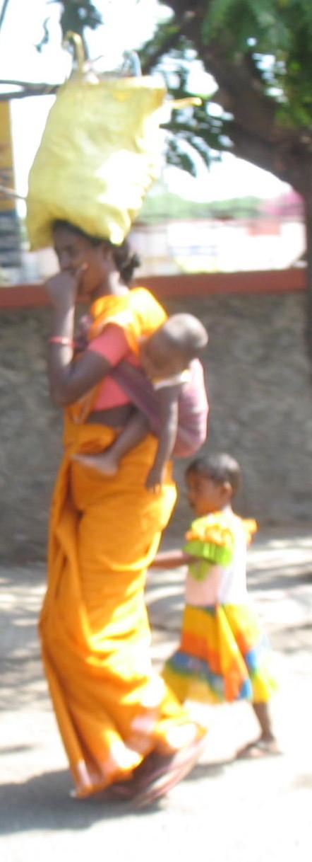 woman child