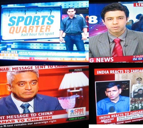 Men on English News Channels