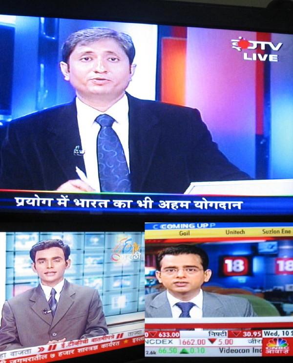Men on Indian Language Channels