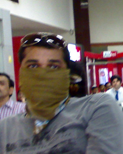 masked man at chennai airport
