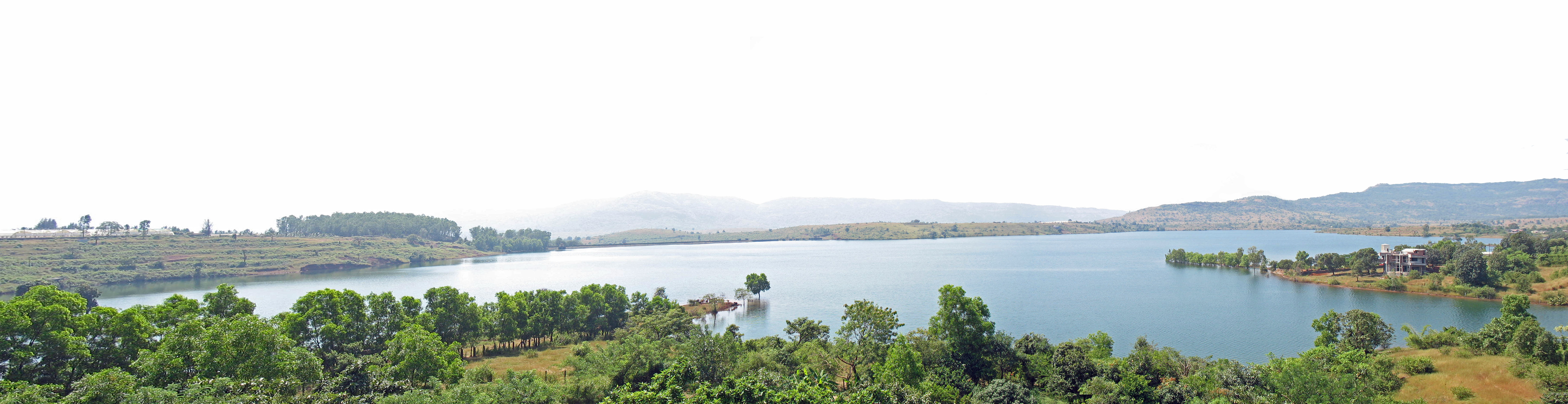 panorama of lake and trees